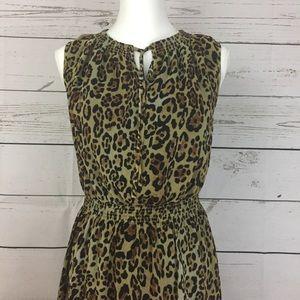 Jones New York Dresses - Jones New York Leopard print Maxi Dress size 4